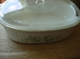 Corning Ware Callaway Casserole / Roasting Dish F-2-B Oval 2.8 Liter + Clear Lid - $37.39