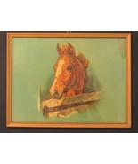 """Charming Vintage Horse Print Framed 13"""" x 17"""" - $19.99"""