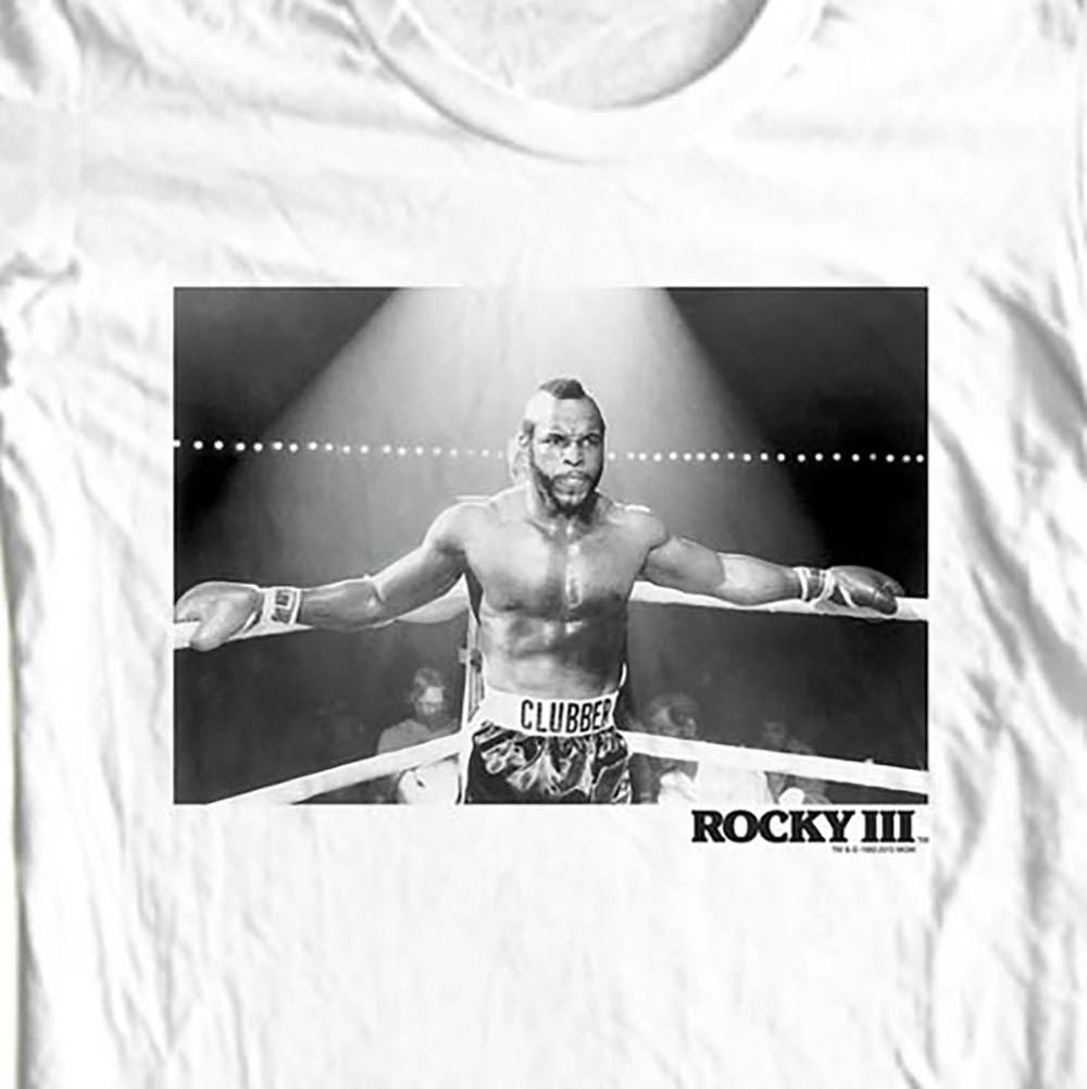 Mr t rocky movie t shirt 80s boxing tee