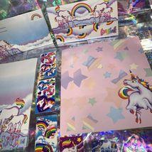 ⚡️SALE  Markie The Unicorn Lisa Frank Stationery Lot  Postalettes Stickers image 5