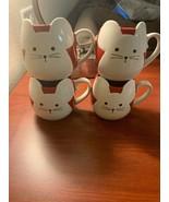 Starbucks 2020 Lunar New Year - Year of the Rat Ceramic Mug 4 Cup Set!  NEW - $148.50