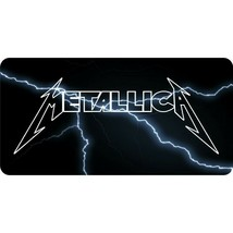 metallica music rock band lightning black logo license plate made in usa - $28.49