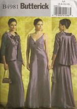 BUTTERICK PATTERN B4981 MISSES' JACKET AND DRESS SIZE AA 6-12 - $16.97