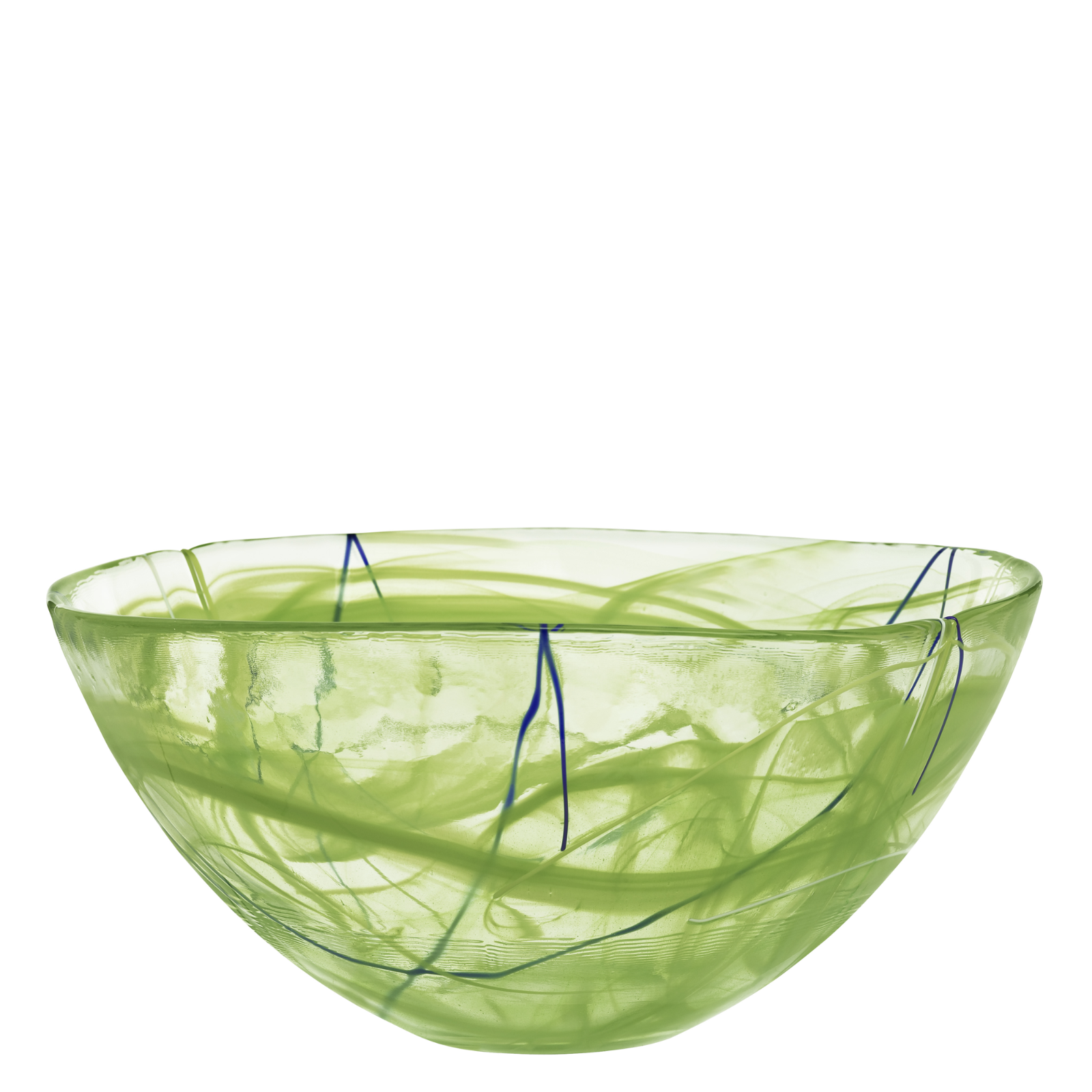 Kosta Boda Serveware Lime Contrast Bowl, 3 Sizes