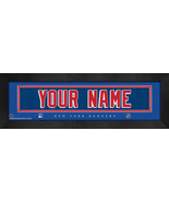 """Personalized New York Rangers Stitched Team Jersey 8"""" x 24"""" Framed Print - $38.50"""