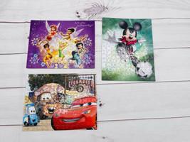 Mixed Lot of 3 Disney 150 pc Puzzles Fairy's, Cars, Mickey Mouse NO BOX P - $7.91