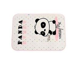 Cartoon Panda Pattern Baby Infant Urine Mat Cover Bed Diaper Changing Pad, PINK