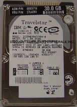 """30GB IC25N030ATCS04-0 2.5"""" 9.5mm IDE 44pin Hard Drive IBM Tested Our Drives Work"""