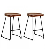 Potter Wood Counter Stool 2-Pack Metal Leg (Free Shipping) - $219.73