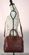 Dooney & Bourke Florentine Leather Satchel Handbag Cameron BX Bordeaux N... - $290.24