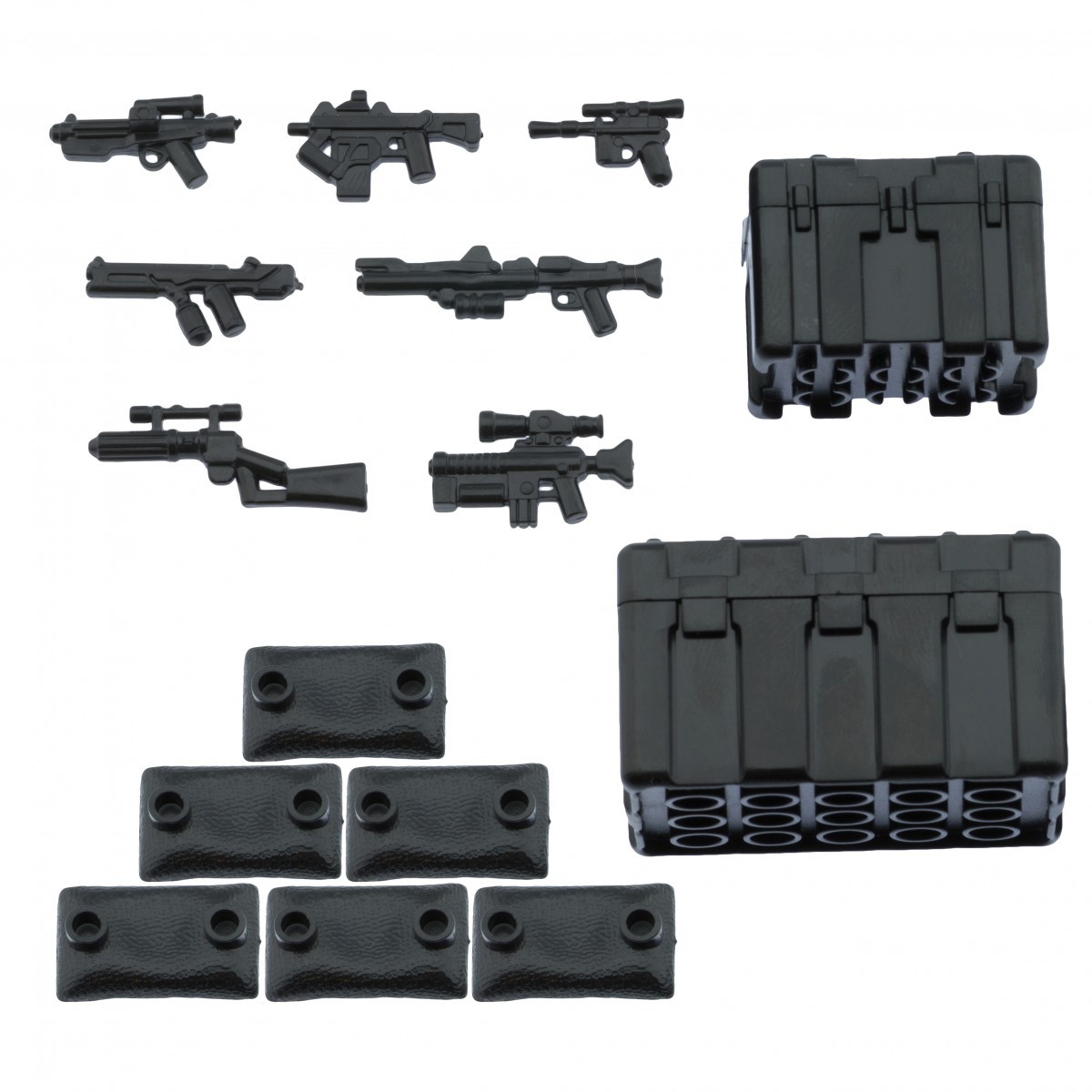 Inifig accessories weapons for lego brickarms minifigs army p39 advanced weapon pack with crates