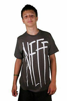 Neff Gnar Premium Fit Gris Carbón Skater Camiseta Algodón Manga Corta Camiseta