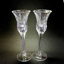 2 (Two) MIKASA ICICLES Lead Crystal Single Candle Holders DISCONTINUED P... - $13.02
