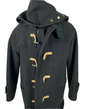 Vintage Polo Ralph Lauren Jacket Duffle Toggle Wool Peacoat Men's XL Coat Hood - $169.99