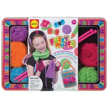 Alex Fuzzy Wuzzy Knitting Craft Kit Super Soft Yarn Needles 6 Colorful Y... - $15.34