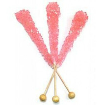 Rock Candy Crystal Sticks Bubble Gum, Wrapped 10 Pieces!!! - $13.85