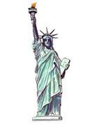 STATUE OF LIBERTY NY LADY FREEDOM USA AUTO RV BOAT VINYL DECAL STICKER A... - $5.99