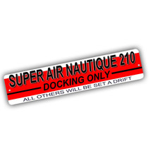Super Air Nautique 210 Docking Only Others Adrift 4x18 in Aluminum Stree... - $17.77