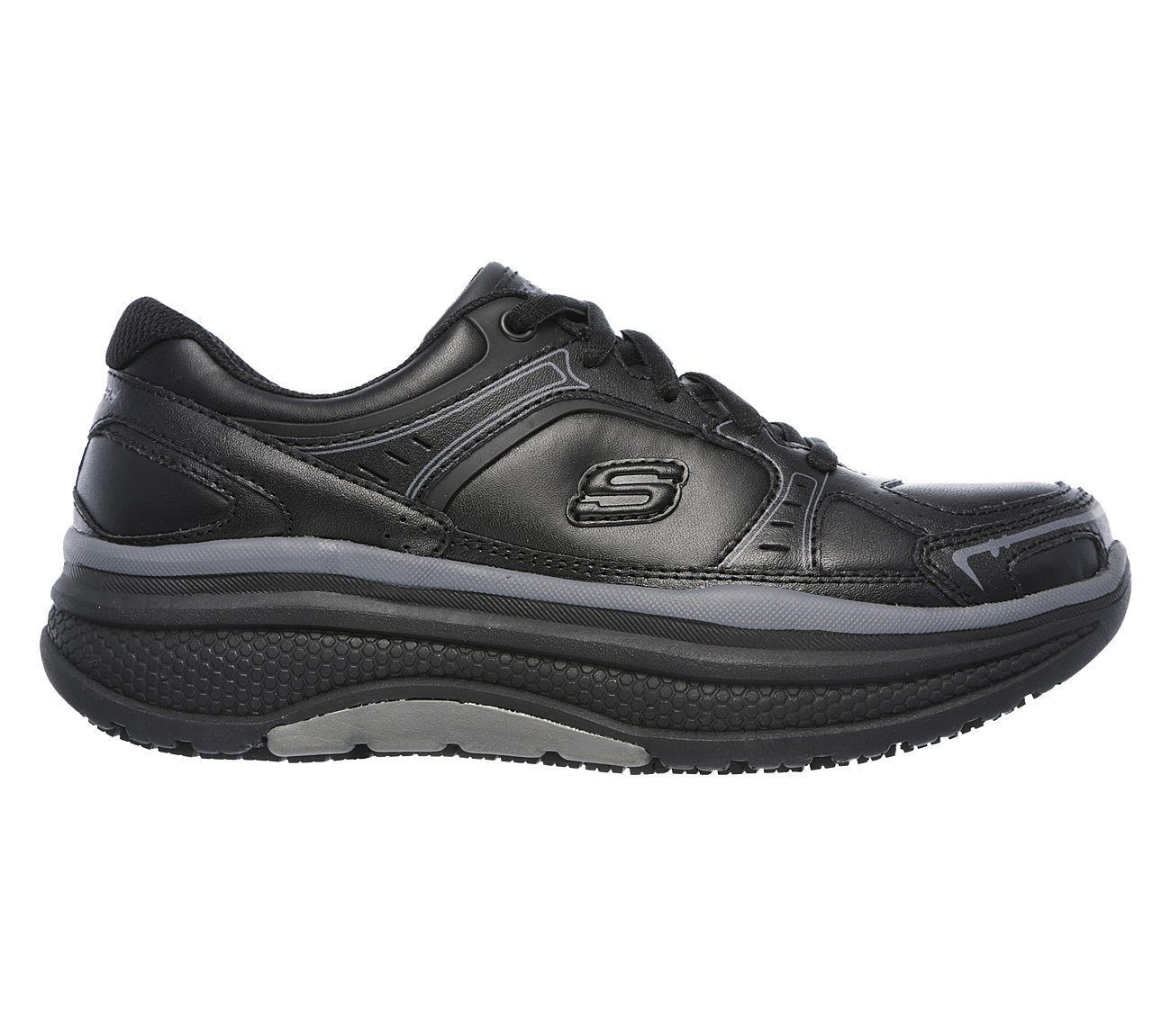 Skechers Work Black shoes Women Memory Foam Slip Resistant Rocker Comfort 77218 image 2