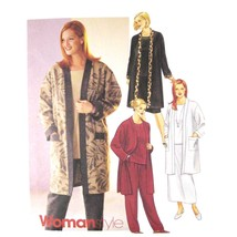 McCall Sewing Pattern 2912 Womens Easy Jacket Top Pull On Skirt Pants 22... - $6.95