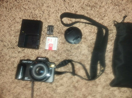 sony cyber shot camera with memory stick, charger, case, etc - $49.99