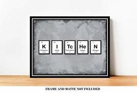 KITCHEN Periodic Table of Elements Breakfast Bar Decor Prints - 8 x 10 U... - $12.84