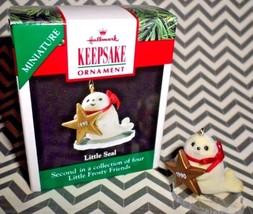 1990 Hallmark Ornament Miniature Little Seal Series #2 Little Frosty Friends NEW - $3.96
