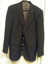 David Taylor Mens 44L Sport Coat Blazer Jacket Wool Navy Blue 2 Gold But... - $15.00