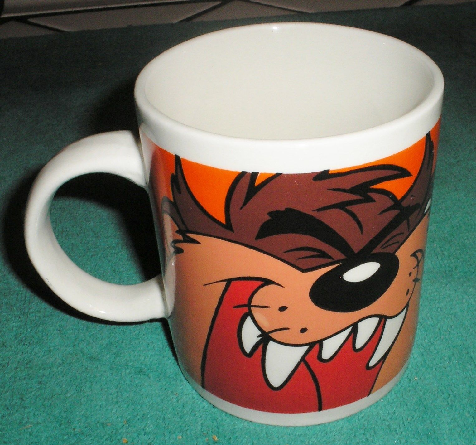 Looney Toons Taz Ceramic Mug Coffee Cup Warner Bros 2000 Collectible
