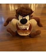 "Looney Tunes Taz Plush Tasmanian Devil Warner Bros 8"" Sitting 1998 Warne... - $8.59"