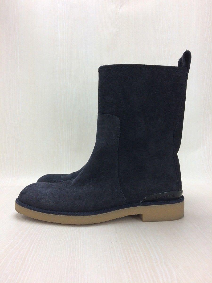 LOUIS VUITTON Pecos Boots US7.5 UK7 / NVY / Suede  image 2