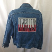 Lee Riders Inside Edition Vintage 90s blue Denim Trucker Jacket Size Large - $123.75