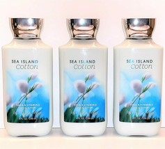 Bath and Body Works Sea Island Cotton Body Lotion 8oz Bottles, Set of 3 - $36.66
