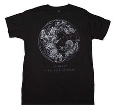 Coldplay Sky Full of Stars Black T-Shirt Officially Licensed Band Tee S-... - $26.83