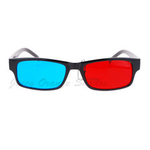 Black Anaglyphic 3D Glasses Red Blue Cyan Stereoscopic Motion/Picture - $8.73