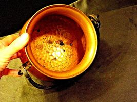 Copper Cauldron Cauldron with Metal Handle RIO TIEL AA19-1505 Antique image 5