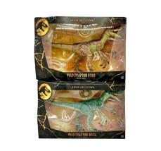 Jurassic World / Park Amber Collection lot Velociraptor ECHO & DELTA Raptors - $74.22