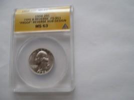 1958 , Washington Quarter , Type B Reverse , FS-901 , Proof ,  ANACS , M... - $40.00