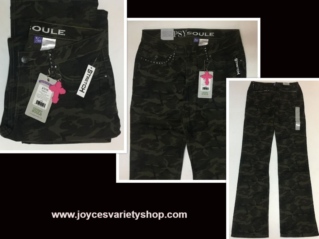 Gypsy Soule Camouflage Pants Jane Sz 6/28 NWT