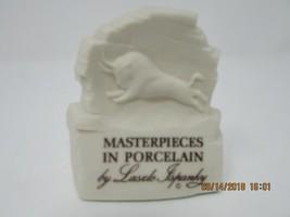 Laszlo Ispanky Porcelain Plaque Featuring Buffalo Hallmark White W/BROWN - $6.88