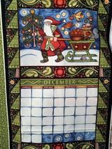 Christmas Advent Calendar Fabric Panel Scandinavian Santa JULEN Paschkis... - $33.66