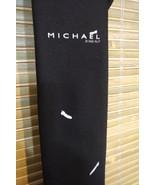 "RARE MICHAEL 1996 MOVIE MEN'S BLACK NECKTIE DESIGNS BY ANTHONY 58"" Long ... - $4.89"