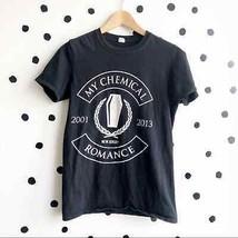 My Chemical Romance Short Sleeve T-Shirt Black White Small - £21.81 GBP