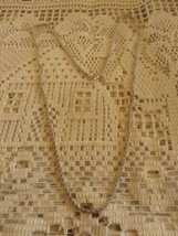 Vintage Signed Monet Silver Tone Rope Chain Long Necklace - $8.00