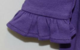 Blanks Boutique Long Sleeve Empire Waist Purple Ruffle Dress Size 5T image 4