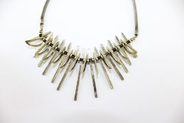 Vivi Love Cookie Lee Sun Ray Tribal Antique Gold Statement Necklace image 5