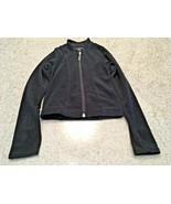 Girl's Mondor Lightweight Black Velour Polartec Skating Jacket (4-6) - $23.38
