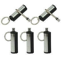 5pc Emergency Fire Starter Permanent Match Striker Torch Lighters W Key Chain