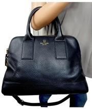 KATE SPADE $428 Southport Avenue Large Jenny Black Leather 2 Way Satchel... - $157.41