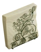 Enchanted Forest Bird Perched on a Branch Wire Metal Luncheon Napkin Holder - $27.76